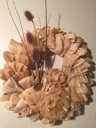 corn husk wreath with deer antlers hometalk