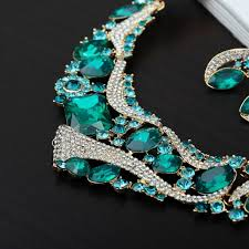 gold jewelry sets for weddings geometric wedding necklace bridal jewelry sets rhinestone brid