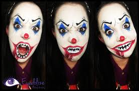 evil clown halloween makeup tutorial by eyedolizemakeup youtube
