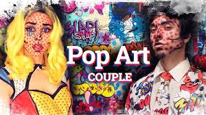 comic book pop art makeup for couples como disfrazarse al