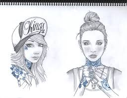 two girls copy of rik lee drawing by ciry15 on deviantart