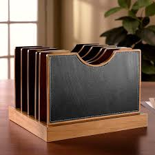 Executive Desk Organizer Cubi Adjust A File Large Leather Desk Organizer Levenger