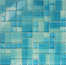 details about sample blue hand painted glass pattern mosaic wall