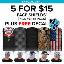 halloween face decals 5 for 15 face shields free decal pick your pack u2013 sa team