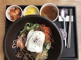 proportion cuisine delicious bibimbap right proportion of beef veggies and rice the