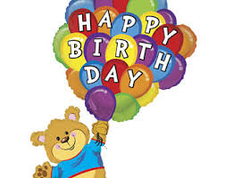 teddy balloons with balloons etsy