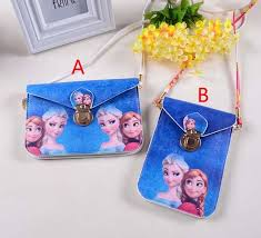 2 styles frozen wallet kids cartoon frozen satchel baby girls elsa