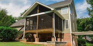 second story screened porch and deck solid construction