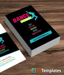 dance class business card template