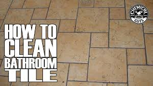 how to clean bathroom tile grout chemical guys drill brush youtube