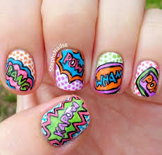 comic book nail art action words explosion bubbles youtube images