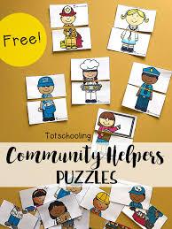 community helpers puzzles totschooling toddler preschool