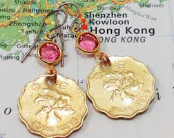 earrings hong kong hong kong earrings etsy