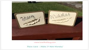 thanksgiving table name cards cricut explore table place card youtube