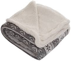lavish home throw blanket fleece sherpa silver