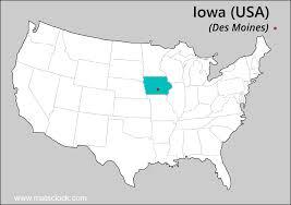 map usa iowa iowa time time now in iowa usa
