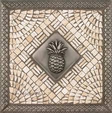 tile medallions for kitchen backsplash pineapple kitchen backsplash tile mosaic medallion pineapple tiles