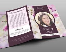 Custom Funeral Programs Custom Funeral Program Template Expressions