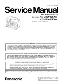 panasonic kx mb2025 2030 service manual fax image scanner