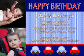 birthday invitation photo cards for boys with cars