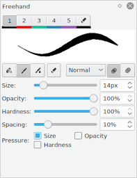 brushes and tools help drawpile