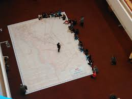 Giant Map Giant Map Of Vimy Ridge On Display Today At The Toronto Reference