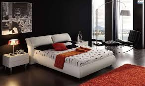 Modern Bedroom Furniture And Platform Beds In Toronto Mississauga - Modern white leather bedroom set