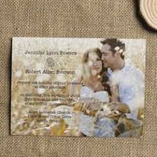 cheap wedding invitations filigree crest photo wedding invitation available in 40 colors