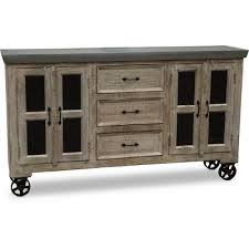 big wood cabinets meridian idaho natural wood and galvanized metal cabinet rc willey furniture store