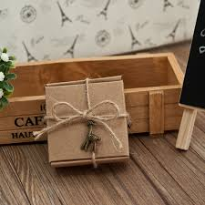 country wedding favors country wedding favor box with twine and vintage deer pandent