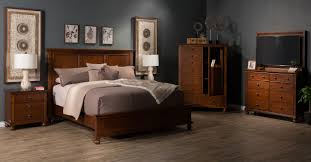 three piece transitional bedroom set in whiskey brown mathis