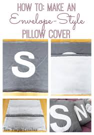 Make An Envelope Diy Snow Applique Throw Pillows And A Tutorial Two Purple Couches