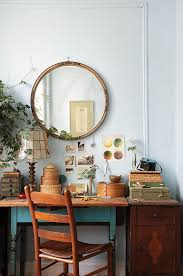 home interior mirror transform your desk into a dreamy workspace jungalow family