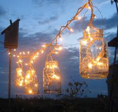 backyard outdoor lighting ideas with diy mason jar candle holder