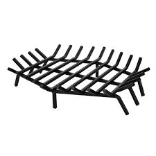 uniflame 27 in x 27 in black hexagon shape bar fireplace grate c