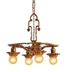 romance revival 4 light bare bulb chandelier w rich gilt finish