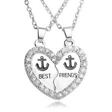 aliexpress buy 2016 new fashion men jewelry black cz 2016 new fashion best friends necklace men women white rhinestone