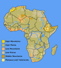 africa map elevation aas 101