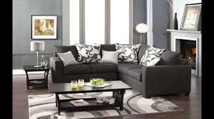 Contemporary Gray Living Room Furniture Cranbrook Contemporary Style Medium Gray Fabric Sectional Sofa