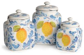 amalfi canister set farmhouse kitchen canisters and jars by