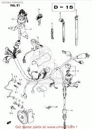 suzuki ts50xk 1986 g e02 e16 e18 e21 e25 wiring harness