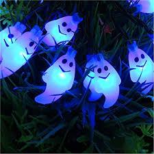 halloween ghost string lights jojoo halloween ghost string lights 20 led 6 5ft battery powered