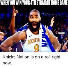 New Nba Memes - when you win your 4th straight home game knicks nation is on a