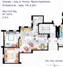 Tv Show Apartment Floor Plans Inaki Aliste Lizarralde U0027s Blueprints To Tv Show Homes Core77