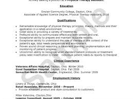 Occupational Therapy Resume Template Physical Therapist Resume Unforgettable Physical Therapist Resume