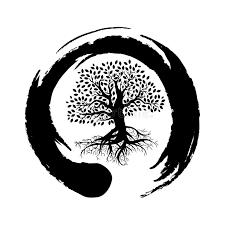 tree symbol zen symbol and tree of life stock vector illustration of icon
