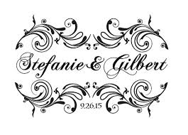wedding gobo templates custom and groom wedding logo name design for signs or gobo