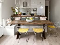built in bench seat kitchen dining room contemporary with rustic