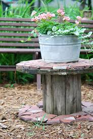 49 best wood spool table images on pinterest wire spool wooden