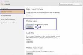 connexion bureau distance sans mot de passe windows 10 comment changer mot de passe sospc
